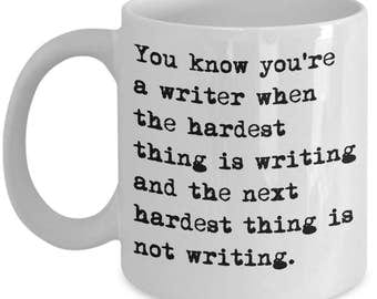 Funny Writer / Author Mugs - You Know You're A Writer - Ideal Writing Gifts
