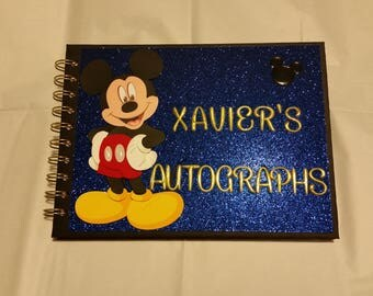 Disney Autograph Book, Personalized, Mickey Mouse Autograph Book, Disney Keepsake Book, Disney Vacation