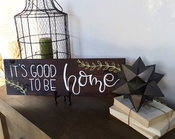 """8"""" x 24"""" welcome home sign 