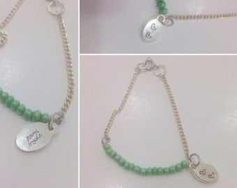 Simple Green Beaded Bracelet