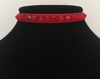 Swarovski Crystal Choker in 5 different colors