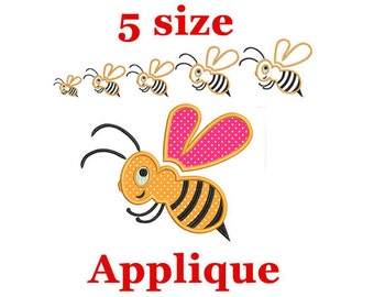 Bumble Bee Machine Embroidery Applique Design. Machine Embroidery Applique Design for Baby.