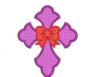 Cross Applique Embroidery Design. Cross Embroidery Design. Easter Cross embroidery. Cross Bow embroidery. Cross applique. Machine embroidery