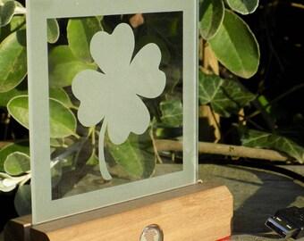 The 'Clover' LED illuminated decorative glass