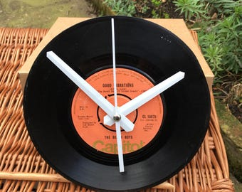 Vintage Vinyl Record Clock - The Beach Boys -  Good Vibrations