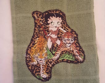 Betty Boop dish towel