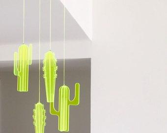 Cactus Mobile,hanging mobile,nursery wall art,wallhanging,kids room decor,modern wall art,nursery decor ideas,cactus decor,cactus wall art
