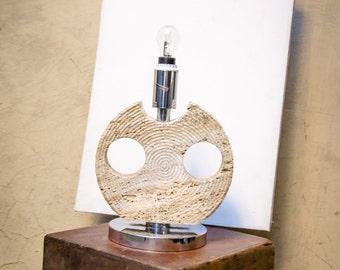 1960's Travertine Lamp - Midcentury Lamp - Italian Design