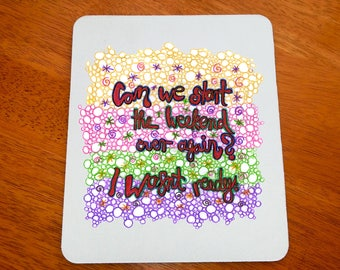 Funny Weekend Quote, Party Girl Gift, Party Girl Quote, The Weekend Is Over, woman Mousepad, Girl Mousepad, girl Mouse pad, art mousepad