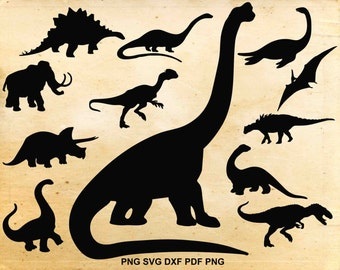 Dinosaur svg, Dinosaurs silhouette svg, Jurassic park clip art, Dinosaur clipart, Svg files for Silhouette, Files for Cricut, Png Dxf Eps