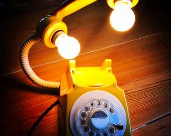 Retro Floating Telephone Light (Mustard)