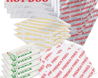 25 Cook Out Combo Pack, Hot Dogs, Hamburger, Cheeseburger, Pickle, Fries Bags, Wedding, Party, BBQ, Sports Events, School