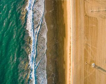 Californian Aerial Beach Photography, Large Wall Art Decor, Colour Fine Art Photography, Art Prints, Beach, Aqua, Home Decor