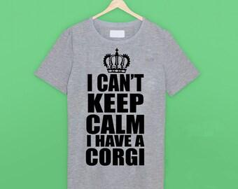 I Can't Keep Calm 'Corgi' T Shirt