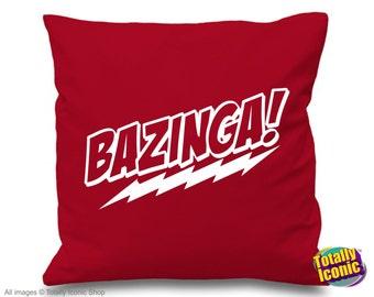Bazinga! - Pillow Cushion Cover, inspirerd by the Big Bang Theory TV Show,Sheldon Lee Cooper