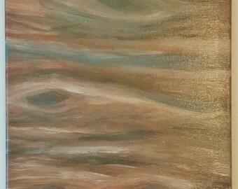 Canvas spray and acrylic painting