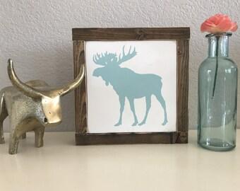 Mini Moose Wood Sign