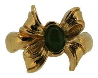 Avon 1970s Gold Tone Vintage Bow Ring