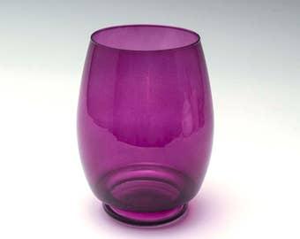 Vintage glass vase, purple glass vase, retro style vase, retro purple vase, vintage  glass vase, retro vase, vintage glassware, glass vase