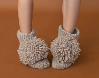 Jean Slipper Booties knitting pattern