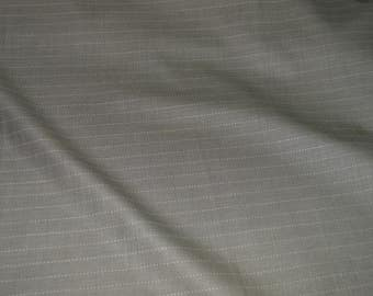 """Tan & Black Twill Pinstripes Suiting Fabric 58"""" Wide"""