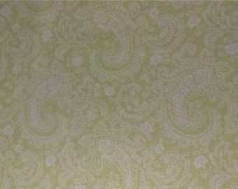 Wildflowers Treasures by Shabby Chic Brands, LLC -Pastel Minty Green and White Paisley