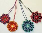 6 Mandala Necklace + 6 Mandala Earrings  Macrame Set Wholesale discount 20%