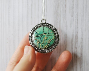 Tree Necklace Mint Turquoise Wearable Art Photography Pendant Nature Jewelry