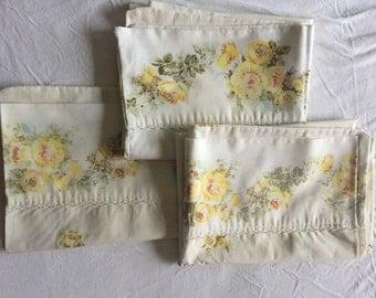 Three mid century pillowcases