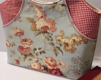 Handmade Floral Tote Bag, Shopping Bag, Handbag, Gift for Her, Market Bag