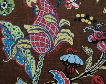 Covington Wilmington Multi chocolate floral fabric by yard multi colour fabric clearnce fabric designer fabric