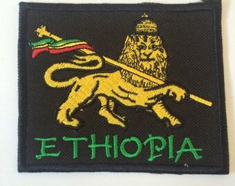 Lion of Judah Ethiopia soft patch