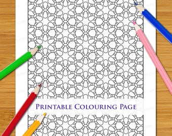 Geometric Pattern Colouring Page Repeating Abstract Patterned Printable Digital Download Adults