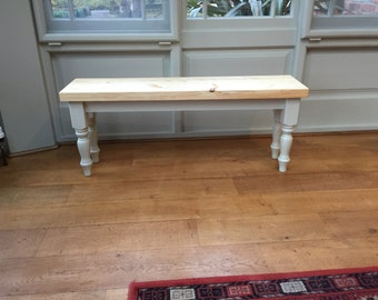 Farmhouse bench painted in any Farrow & Ball / Annie Sloan colour