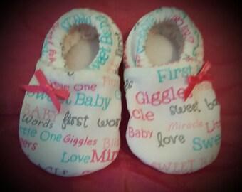 Homemade Cloth Baby Booties