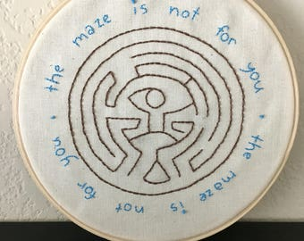 "Westworld's Maze - 6"" Embroidery Hoop"