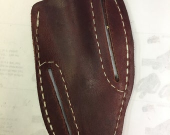 79042-6 Oil Tanned Leather Hunting Knife Sheath,fits up to a 5 inch Blade