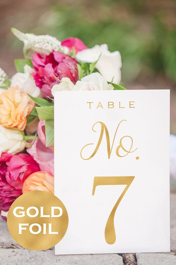 Wedding Table Number Printable