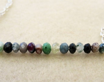 Green Ruby Zoisite Beaded Necklace