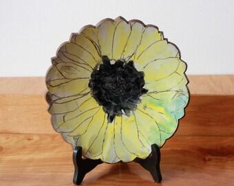 Sunflower Plate - Housewarming Gift- Floral Plate