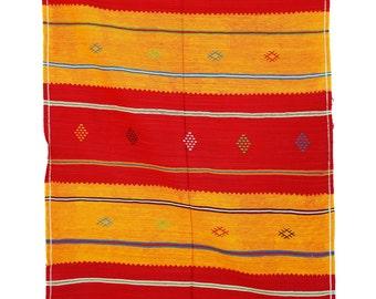 "CACTUS SILK, 3'3"" x 4'10"" Cactus Silk Kilim Rug, Kilim, Sabra, Moroccan Kilim."
