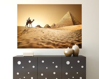 Pyramids at Giza in Egypt Wall Mural /Egyptian Pyramids at Giza Decorations / Pyramids at Giza Mural / Pyramids at Giza Decor - TOUWD10067