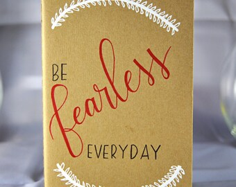 Hand Lettered Calligraphy Personalized Moleskine Journal Notebook