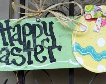 Easter Sign, Happy Easter, Door hanger, Easter Egg