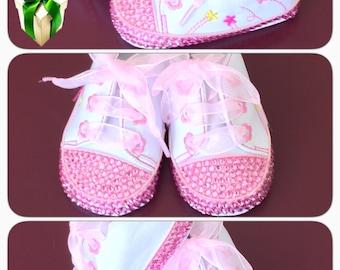 Crystal Baby Shoes, Baby Shoes, Crystal Shoes, Rhinestone Baby Shoes, Rhinestone Shoes