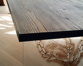 WOOD & GLASS Table
