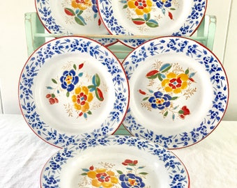 Vintage Enamelware Picnic/ Appetizer Plate Set