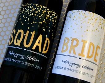 Bachelorette Wine Label, Engagement Wine Label, Wedding Label, Wedding Wine Label, Bridal Shower Gift, Custom Wine Label, Bachelorette Gift,