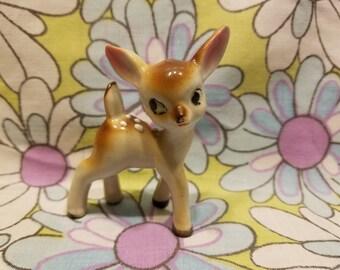 Kitschy Fawn Deer ceramic made in japan