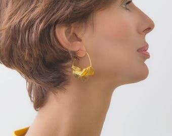 fulani earrings gold